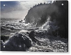 Stormy Seas At Gulliver's Hole Acrylic Print by Marty Saccone