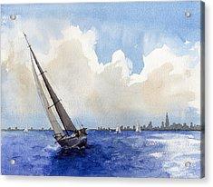 Stormy Seas Acrylic Print by Max Good