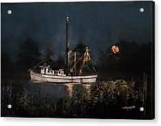 Stormy Seas Moonrise Return Acrylic Print