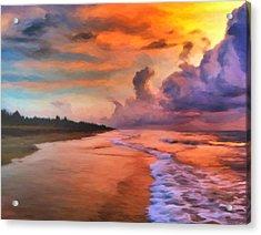 Stormy Skies Acrylic Print by Michael Pickett
