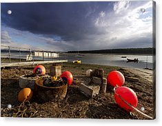 Stormy Skies Over Findhorn Bay Acrylic Print by Karl Normington