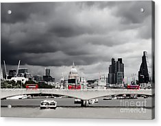 Stormy Skies Over London Acrylic Print