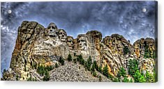 Stormy Skies Over Mt Rushmore Acrylic Print