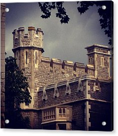 Stormy Skies Over The Tower Of London Acrylic Print