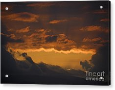 Stormy Sky At Sunset Acrylic Print by Sami Sarkis