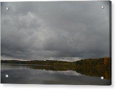 Stormy Sky In Autumn Acrylic Print