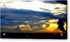 Acrylic Print featuring the photograph Stormy Sky by Karen Kersey