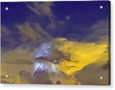 Acrylic Print featuring the photograph Stormy Stormy Night by Charlotte Schafer