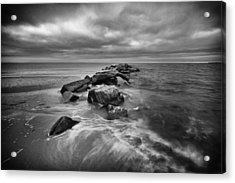 Stormy Sunken Meadow Acrylic Print by Mike Lang