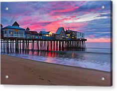 Stormy Sunrise At Oob Acrylic Print