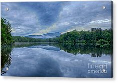 Stormy Sunrise Over Price Lake - Blue Ridge Parkway I Acrylic Print by Dan Carmichael