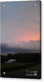 Stormy Sunset Acrylic Print by Gayle Melges
