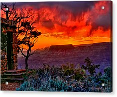 Stormy Sunset Greeting Card Acrylic Print by Greg Norrell