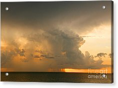 Acrylic Print featuring the photograph Stormy Sunset by Mariarosa Rockefeller