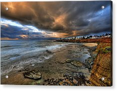 Stormy Sunset Acrylic Print by Peter Tellone