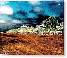 Stormy Weather At A Cape Cod Beach Acrylic Print