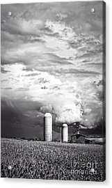 Stormy Weather On The Farm Acrylic Print by Edward Fielding