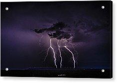 Stormy Wind Farm Acrylic Print