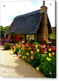 Storybook Cottage By The Sea Acrylic Print