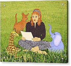 Storytime Acrylic Print by Julia and David Bowman
