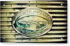 Stout Metal Airplane Co. Emblem Acrylic Print by Susan Garren