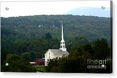 Acrylic Print featuring the photograph Stowe Community Church by Patti Whitten