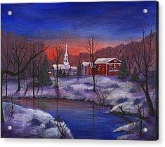 Stowe - Vermont Acrylic Print