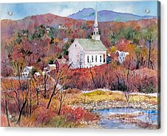 Stowe Village Acrylic Print by Sherri Crabtree