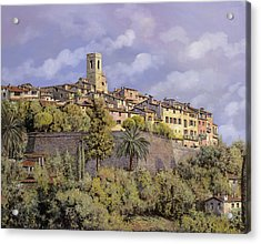 St.paul De Vence Acrylic Print by Guido Borelli