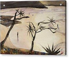Stradbroke Beach Acrylic Print by Sof Georgiou