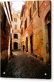 Acrylic Print featuring the photograph Strade Di Ciottoli by Micki Findlay