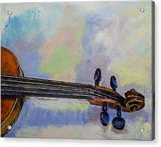 Stradivarius Acrylic Print by Michael Creese