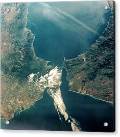 Strait Of Gibraltar Acrylic Print by Nasa/science Photo Library