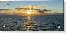 Strait Of Magellan At Sunset, Southern Acrylic Print by Panoramic Images