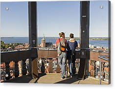 Stralsund From St Marys Church Germany Acrylic Print by David Davies