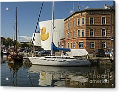 Stralsund Harbour Germany. Acrylic Print by David Davies