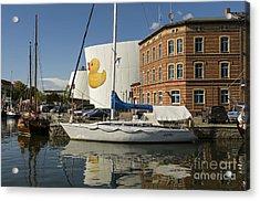Stralsund Harbour Germany. Acrylic Print by David Davies