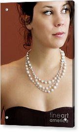 Strand Of Pearls Acrylic Print by Margie Hurwich