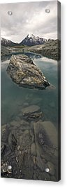 Stranded Glacial Erratic In A Pool Of Acrylic Print