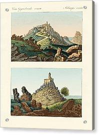 Strange Abbeys In Portugal Acrylic Print by Splendid Art Prints