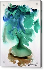 Acrylic Print featuring the painting Strange Compote by Joan Hartenstein