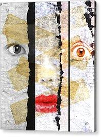 Strange Faces Acrylic Print by David Ridley