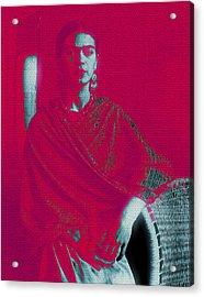 Acrylic Print featuring the mixed media Strange Frida by Michelle Dallocchio