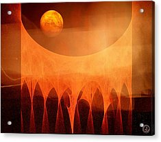 Strange Moon Acrylic Print by Gun Legler