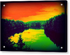 Acrylic Print featuring the digital art Strange River Scene by Jason Lees
