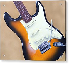 Strat O. Caster Acrylic Print by Chris Fraser