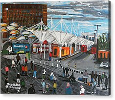 Acrylic Print featuring the painting Stratford Bus Station Study 02 by Mudiama Kammoh