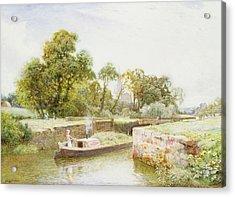 Stratford Lock Acrylic Print by Arthur Claude Strachan