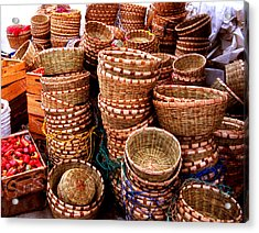 Straw Baskets Acrylic Print