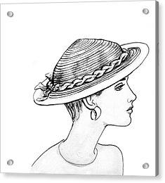 Straw Hat Acrylic Print by Sarah Parks